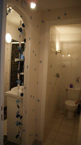 WC et salle de bain de la chambre Marine - Gîte Bouchard