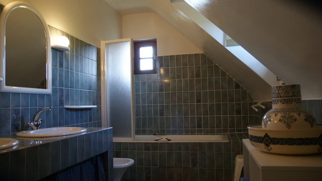 Salle de bain de la chambre Hermine - Gîte Bouchard